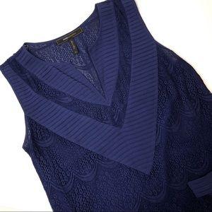 BCBG max azria lace blouse sz XS
